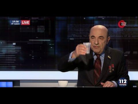 Рабинович на 112-ua: Пью 100 граммов за здоровье ветеранов - и никто не помешает!