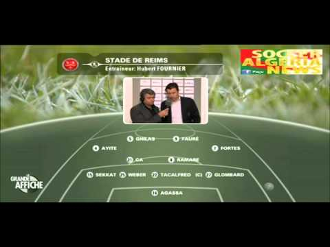 Hubert Fournier au micro d'Eurosport avant Reims vs Clermont Foot