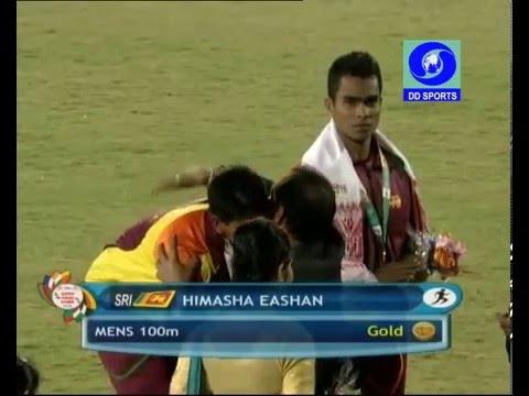12th South Asian Games 2016 (SAG)100 meters Final Men & Women - Sri Lanka Winning  - Himash Eshan
