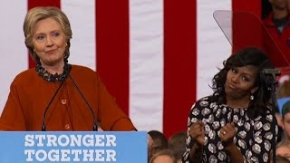 Clinton: No one more inspiring than Michelle Obama