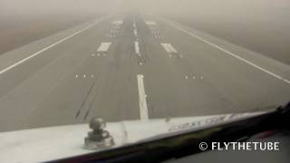 Landing in Moscow airport during smoke, RWR 700m