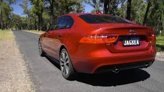 2016 Jaguar XE S V6 0-100km/h & engine sound