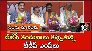 రంగు మారింది: బీజేపీ కండువాలు కప్పుకున్న టీడీపీ ఎంపీలు | Sujana Chowdary and Team Join BJP