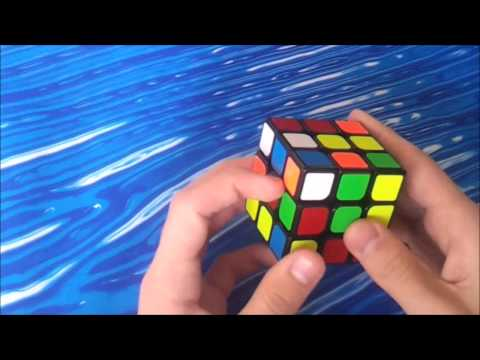 Rubik's cube example solves (white cross)