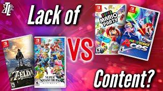 Lack of Content: Mario Tennis Aces + Super Mario Party
