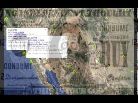 West Coast Storm Mid U.S. Rads Trending Up Fukushima Radioactive Weather Update 3/6/16
