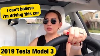 TESLA MODEL 3 DELIVERY EXPERIENCE AND TEST DRIVE | We bought a S3XY CAR l