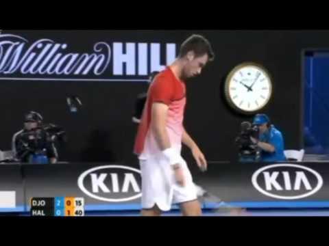 Novak Djokovic vs Quentin Halys ~ Highlights -- AO 2016