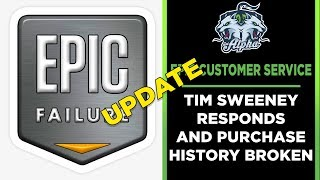 Epic Games Store Fail Update: Purchase History Broken and Tim Sweeney Responds