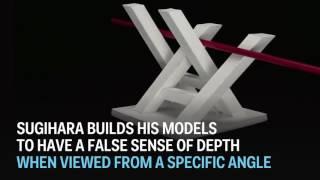 This Japanese professor makes amazing 3D optical illusions.