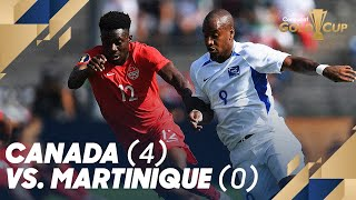 Canada (4) vs. Martinique (0) - Gold Cup 2019