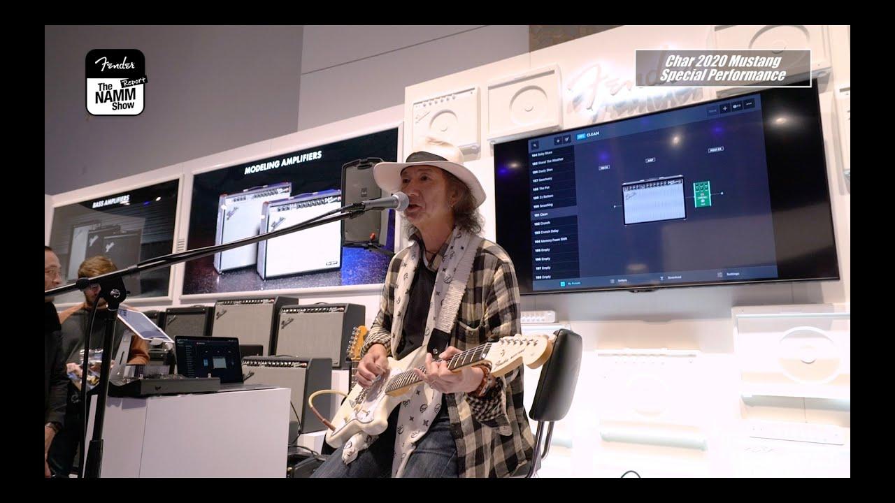 """Char (竹中尚人) - 「NAMM 2020」Fenderブースからスペシャルパフォーマンス映像を公開 (シグネチュア・モデル「Fender""""Char 2020 Mustang""""」使用) thm Music info Clip"""