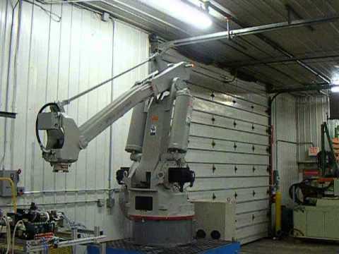 SCC Machinery, Inc's Motoman SP100X-160 Robot Testing