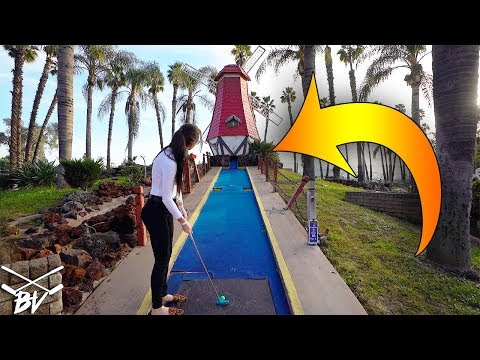 ELISHA IS THE MINI GOLF LUCKY BOUNCE QUEEN! - MINI GOLF HOLE IN ONE AND MORE!