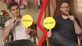 Zac Efron And Seth Rogen Play Never Have I Ever