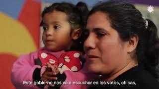 Cristina en el comedor comunitario El Milagro del Monte, en Quilmes   #tuvoztuvoto