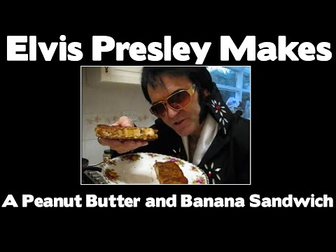elvis presley makes a peanut butter and banana sandwich 1977 newly ...