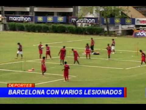 Barcelona con varios lesionados