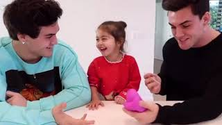 The Dolan twins making Elle laugh even when she sick **play with SLIME**