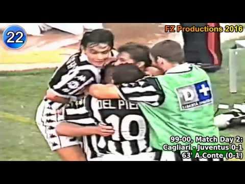 Antonio Conte - 30 goals in Serie A (Lecce, Juventus 1985-2004)