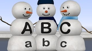 Alphabet Snowmen Teach Letters A to Z - ABC Lesson for Kids