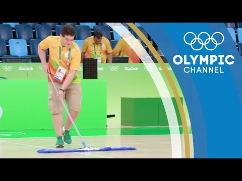 A Day in the Life of a Basketball Sweeper