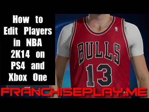 NBA 2K14 - PS4 - How to Edit Players