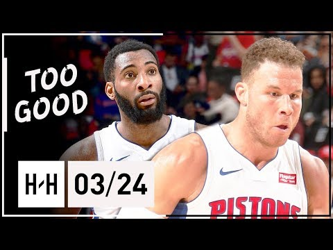 Andre Drummond & Blake Griffin Full Highlights Pistons Vs Bulls (2018.03.24) - TOO EASY!
