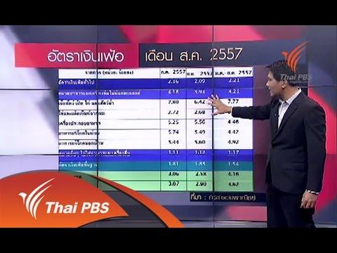เจาะลึกเศรษฐกิจ กับ อธนวรรธน์  : เงินเฟ้อกับค่าครองชีพ ( 2 กย 57)