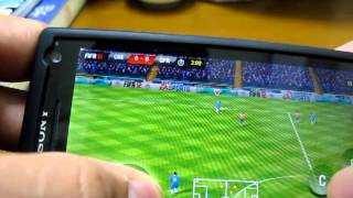 9mm, fifa 12 gameplay on Xperia S