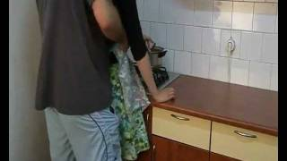 Hot Couple in Kitchen