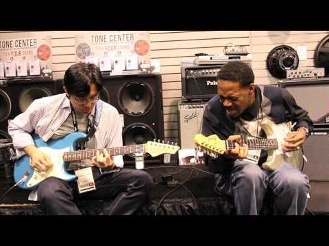 Little Wing - Tomo Fujita and Eric Gales with Eminence at NAMM 2012