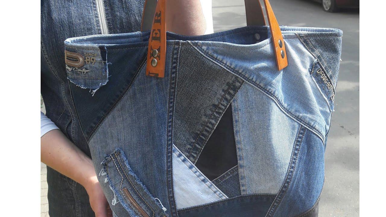 Как сшит сумку из джинс 601