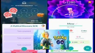 Pokemon Go Road to Mew - All Mythical Discovery Quests & Tasks