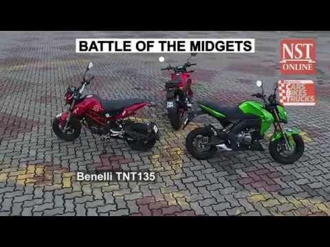Battle of the midgets: Kawasaki Z125 Pro vs Honda MSX125 vs Benelli TNT135
