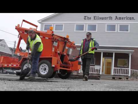 City of Ellsworth New Way to Fill Pot Holes