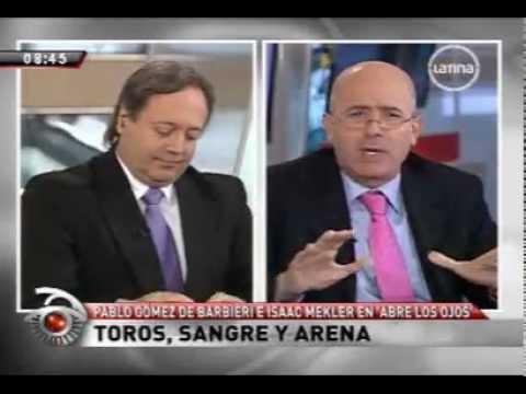 Debate corridas de toros Isaac Mekler y Pablo Gómez