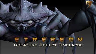 Ethereon Crab Sculpt Timelapse Part1