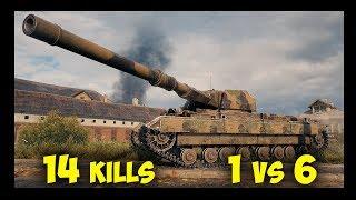 Super Conqueror || 1 vs 6 | 14 Kills || World of Tanks