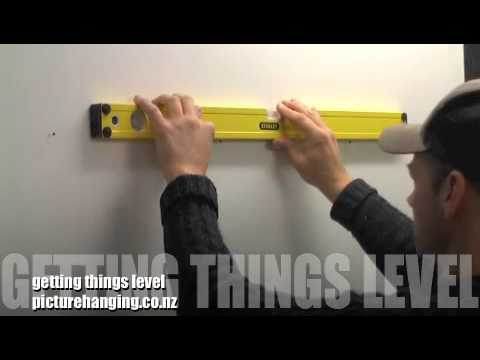 the best way to hang your picture frames straight and in a row youtube. Black Bedroom Furniture Sets. Home Design Ideas