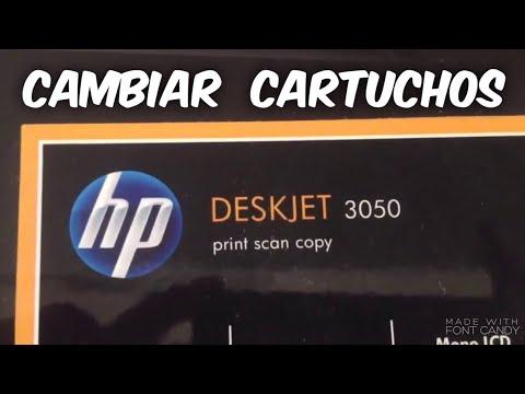 Impresora Deskjet 3050 cambio de cartuchos