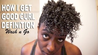 The Deets on My Curl Definition - How I get Good Curl Definition with a Wash n Go
