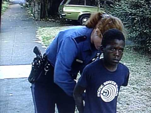 Police terrorize 7 year old child arrested run