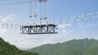 Construction begins on China's first railway suspension bridge
