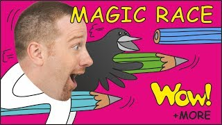 Magic Race for Children + MORE Funny Stories for Kids from Steve and Maggie | Learn Wow English TV
