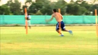 Lionel Messi treinando  show de preparo fsico