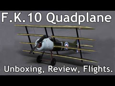 Armstrong Whitworth F.K.10 Quadplane  UnBoxing / Review