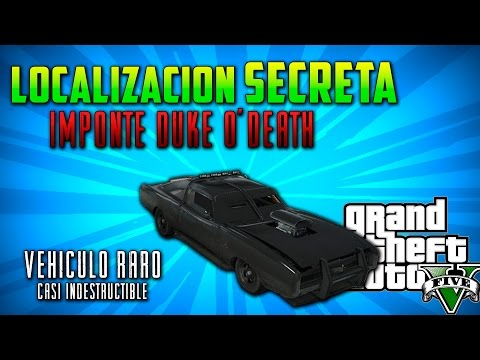 GTA V PS4 Localizacion oculta Imponte Duke O' Death - Donde encontrar Vehículo Indestructible