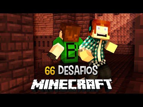 Minecraft: 66 Quartos dos Desafios #08 - Perdidos Na Fortaleza !!
