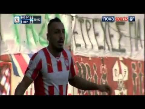Kostas Mitroglou Hat-Trick vs. Veria | Superleague 2013/14 | 7th Week